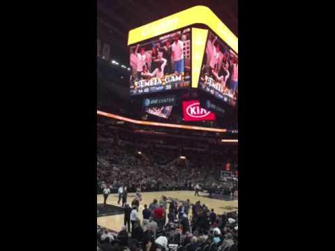 San Antonio Spurs Cumbia Cam at the AT&T Center