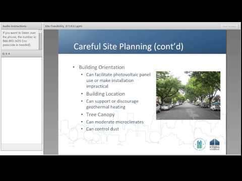 Environmental Review Webinar: Site Planning and Feasibility - 7/18/12