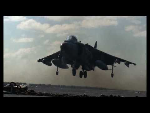 Usa Vs Libya Military: AV-8B Harriers with Marine