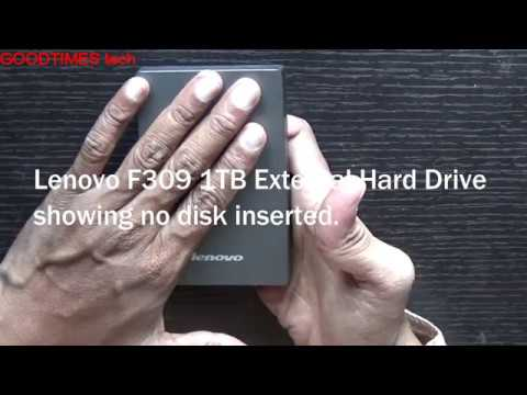 Lenovo 1TB F309 External | Portable Hard Drive | Showing No Disk | Not  Detecting | No DATA