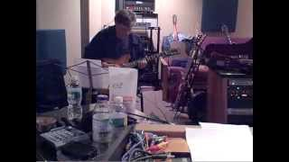 Duke Levine records guitar for Taylor Mesple, with John McVey engineering