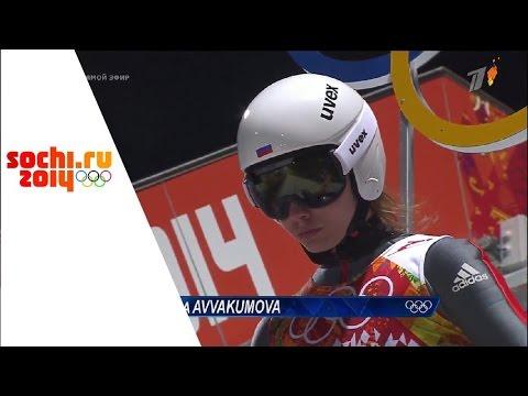 XXII Зимние Олимпийские Игры.Прыжки на лыжах с трамплина.Женщины.Финал.Вторая попытка
