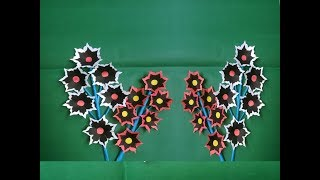 How to Make Beautiful Paper Stick Flower-Paper Craft Ideas-Stick Flower- Art & Paper Crafts