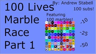 100 Lives Marble Race Part 1 (100 sub special)