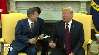 WATCH: President Trump meets with South Korean president at White House