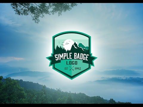 Simple Badge Logo Illustration Tutorial
