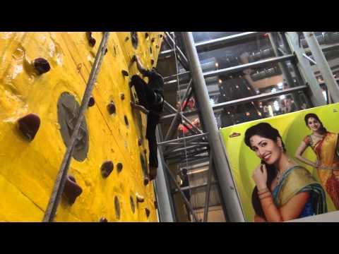 amazing rock climbing in Prasad IMAX (Hyderabad) by Dev