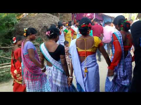 Malda Districts Majhra Gram Santali Bapla Dance Video