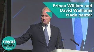 Prince William and David Walliams trade banter at graduation ceremony