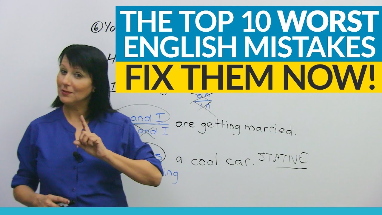 The 10 Worst English Mistakes You 39 Re Making Youtube