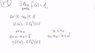 Односторонние пределы теорема.Левый и правый