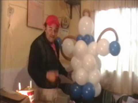 Decoracion con globos angelito para bautizo youtube for Decoracion casa con ninos