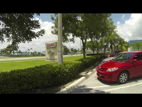 Krispy Kreme Doughnuts Parking, 32999 S Dixie Highway, Homestead, Florida to YMCA, 4 Aug 16 GP085506