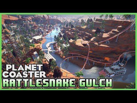 RATTLESNAKE GULCH! Western Mega Park! Park Spotlight 63 #PlanetCoaster