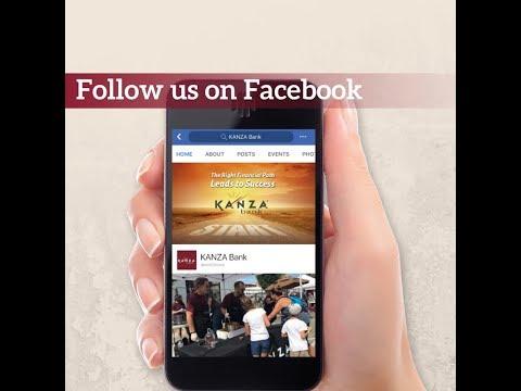 KANZA Bank Video Follow Us On Facebook