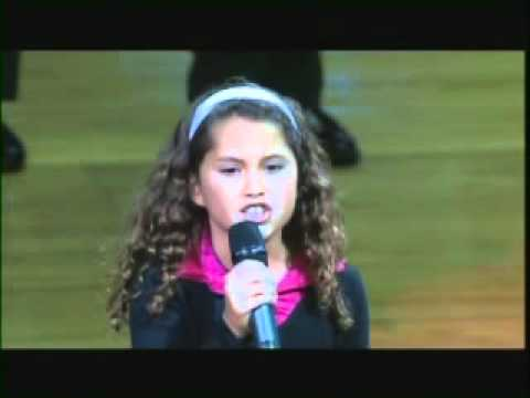 9 Year Old with AMAZING VOICE Sings Natial Anthem at NBA Game