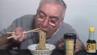 ASMR Eating Ramen Noodles and Sticky Bun Sunday Whispering