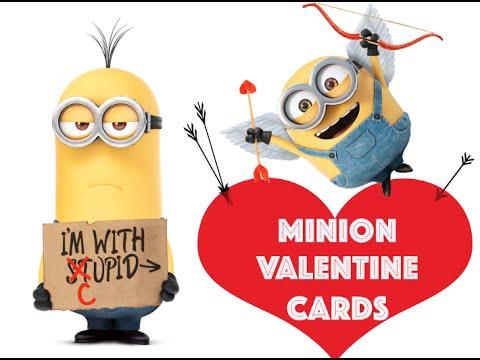 Elegant Minion Valentine Card Ideas #2