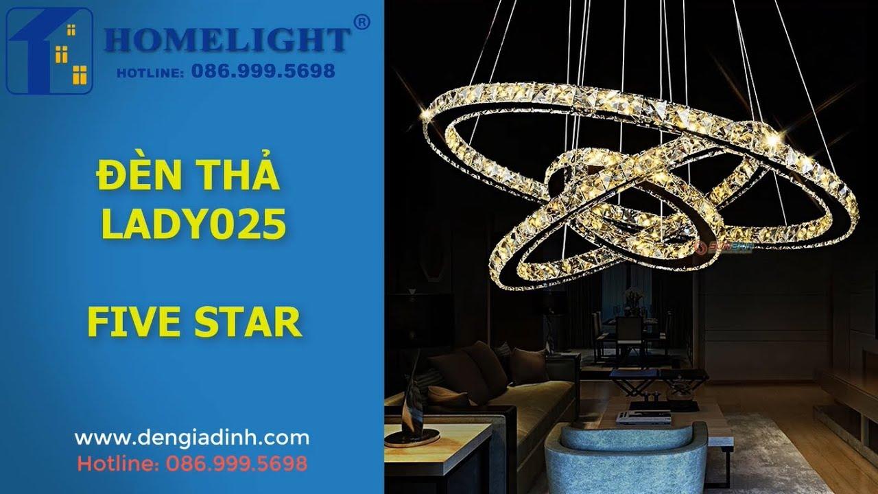 Đèn thả pha lê – LADY025 – Chung Cư Five Star – Đèn trang trí Homelight