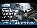 How To Rebuild Replace Front Drive Axle Front CV Joint 2002-07 Jeep Liberty