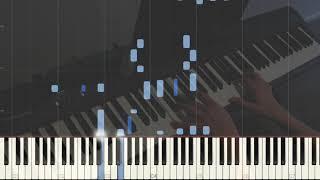 Billie Eilish, Khalid - Lovely - piano version - Tutorial + MIDI file (link in the description)