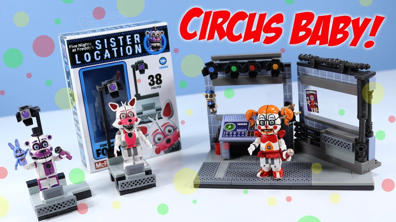 Fnaf Sister Location Mcfarlane Circus Control And Fun Time