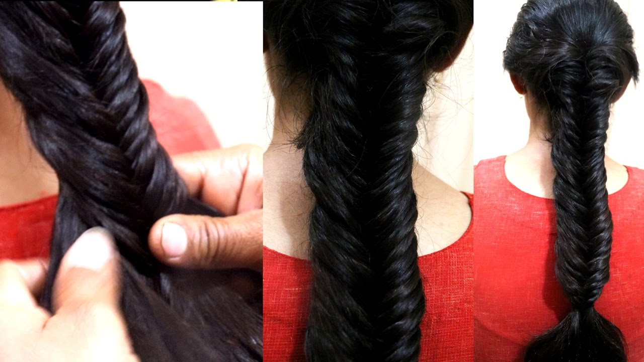 Fish Tail Hairstyle How To Make Khajuri Choti Hairstyle Party Hair Style Integrators