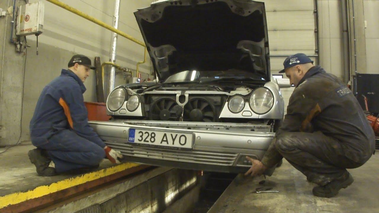 Как снять фары на дорестайловом Mercedes-Benz W210 - YouTube