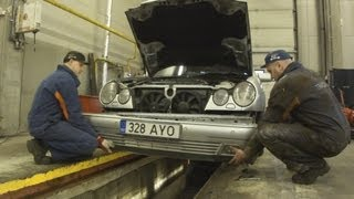 Снятие переднего бампера Mercedes-Benz W210.Front Bumper Removal