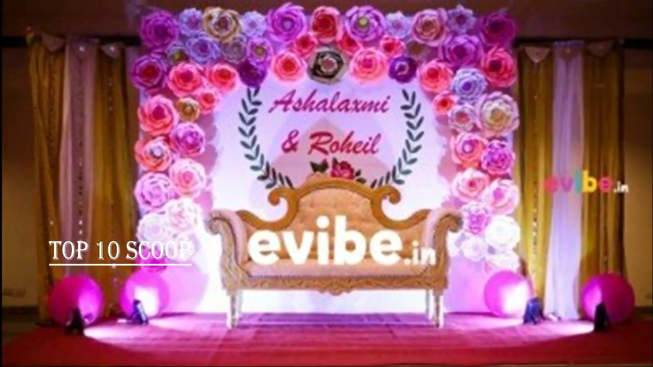 south indian wedding stage decoration ideas - YouTube