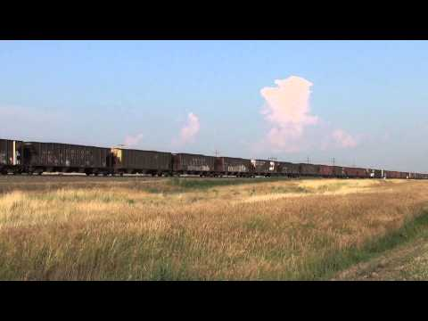 EBD Union Pacific coal train with SP patch highballs @ Point of Rocks, NE  7/18/14