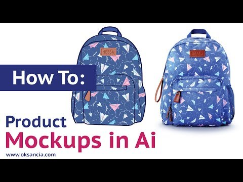 How to create physical product mockups in Adobe Illustrator CC. Backpack mockup with vector pattern.
