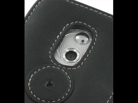 PDair Leather case for HTC Panda/HTC P6300 - Book (Black)