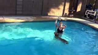 """Tempe Dog Training """"k9katelynn"""" Teaches """"piper"""" Lab-australian Cattle Dog Swim! K9katelynn.com"""