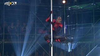 Optreden Vincent - Show 4 - CELEBRITY POLE DANCING