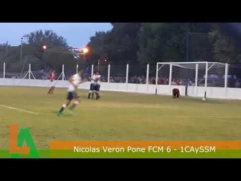 Nicolas Veron Marca el 6 a 1 de Matienzo Sobre San Martín