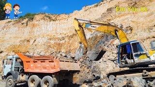 Máy Xúc, Xe Cẩu múc đá làm đường (Excavators) | Nhạc Thiếu Nhi Hay Nhất