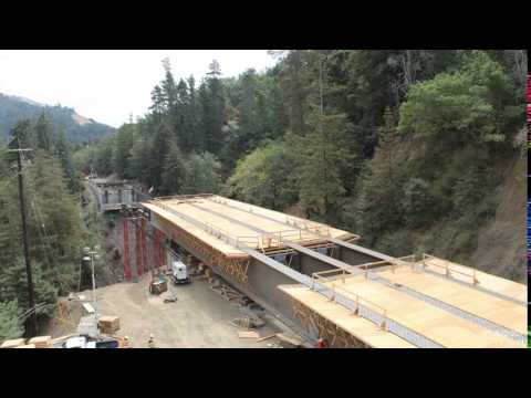 Pfeiffer Canyon Bridge Launch - Timelapse (looking south)