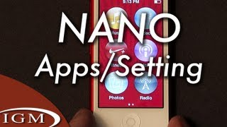 iPod nano apps and settings - A quick tour