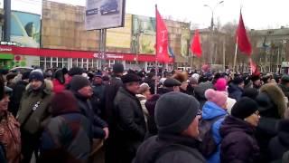 Митинг против отмены льгот пенсионерам. г. Самара, 19 марта 2017 г.