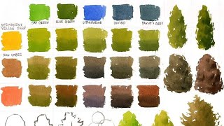 Color mixing table