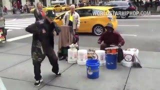 NYC Break Dancer Meets Street Drummer