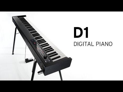 KORG D1 - The stylish digital piano in slim, compact design