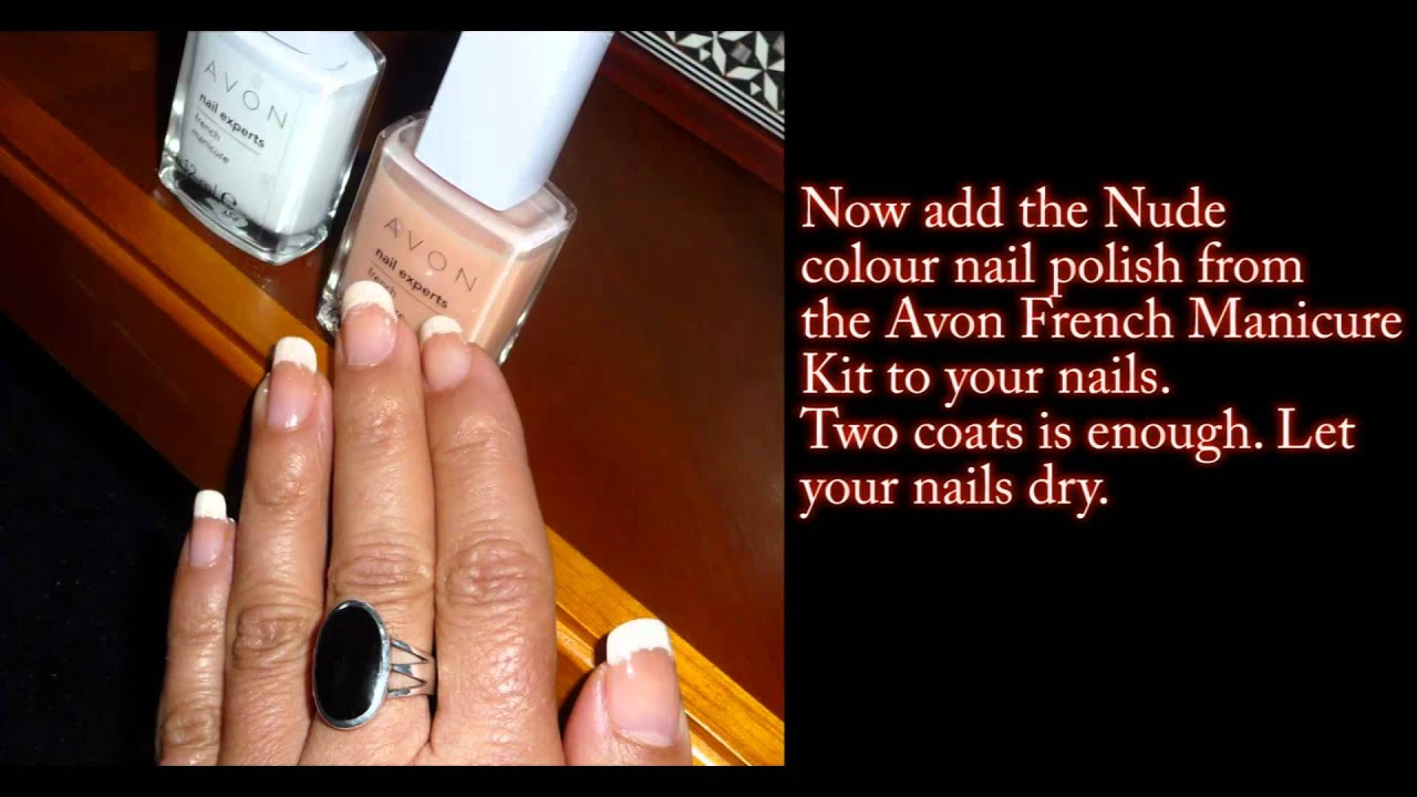 DIY Avon French Manicure Kit & Sparkle - YouTube