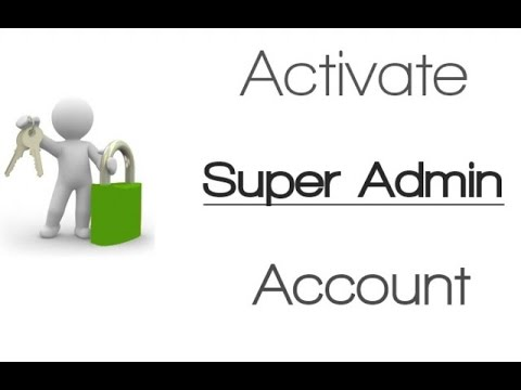 windows 10 super administrator account
