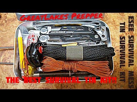 Best Survival Tin Kit//Esee Survival Mess Tin Homemade Kit