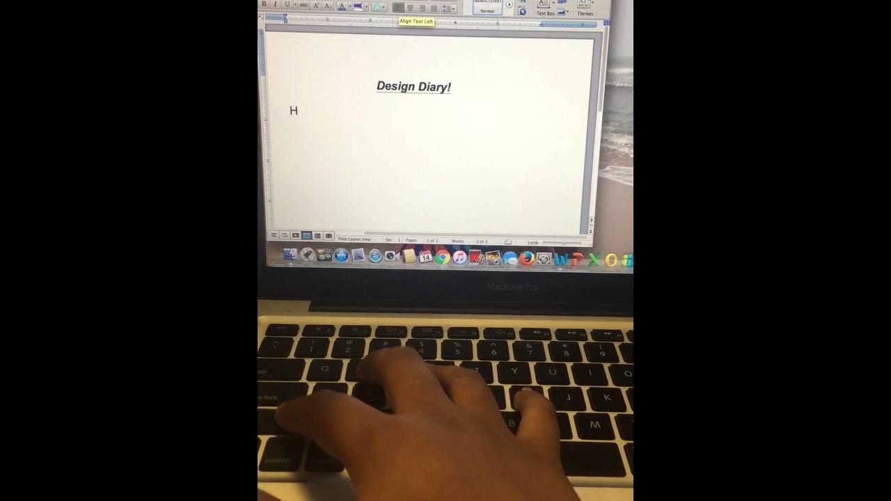 ms word diary