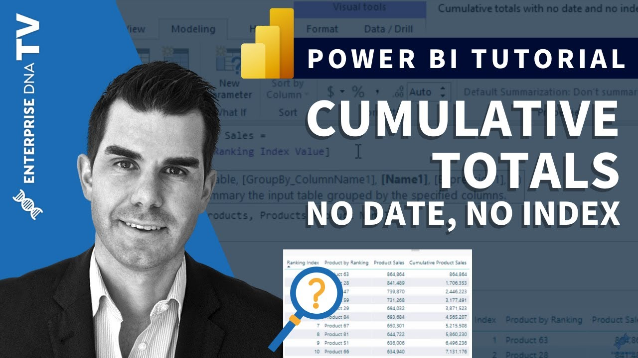 Create Cumulative Totals, No Date, No Index - Advanced DAX Techniques in  Power BI