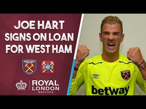 Joe Hart signs for West Ham United