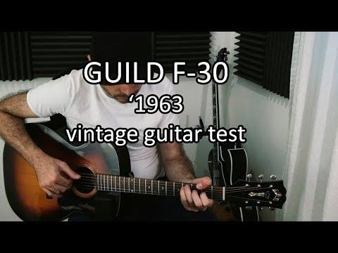 1966 Guild F-30 vintage guitar test